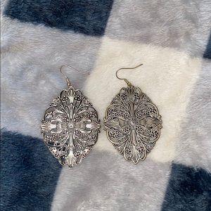 Cross Flower Earrings